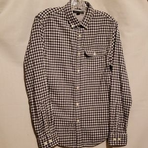 BANANA REPUBLIC BLK/WHT CHECK SHIRT Sz S